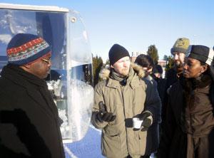 Ambassador from Kenya visit Absolicon and Härnösand Energy park